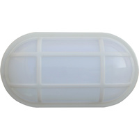 Bulk LED 5000K Oval Bulkhead Exterior Wall Light (with Optional Cage)