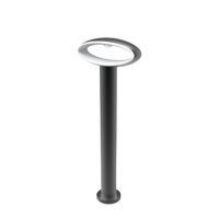 Bollard LED Matt Black Open Oval 3000K 9w IP54 Medium H500mm 120D (350lms) W200mm Wty 3yr