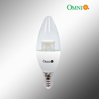 B22 Dimmable LED Clear Candle