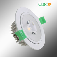 90mm COB GimbalLED Dimmable Downlight - White Rim