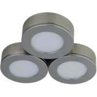 Conceal Cabinet Light (3 piece/pack) Brushed Nickel 3 x 4w 5000K