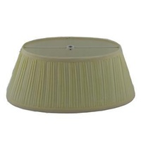 "Shpts 13"" Finial Pleated Shade de"