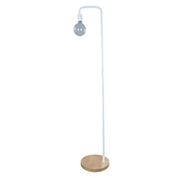 Floor Lamp ES 45w Blonde Wood/White D300mm x H1610mm Wty 1yr