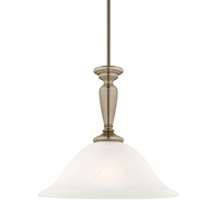 Stepney 1lt Pendant  Antique Brass