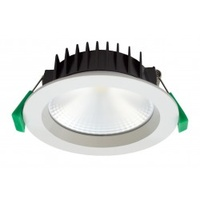 Tradetec Vero 13w 3000K Cob Dimmable LED Downlight Kit 90mm Matt White